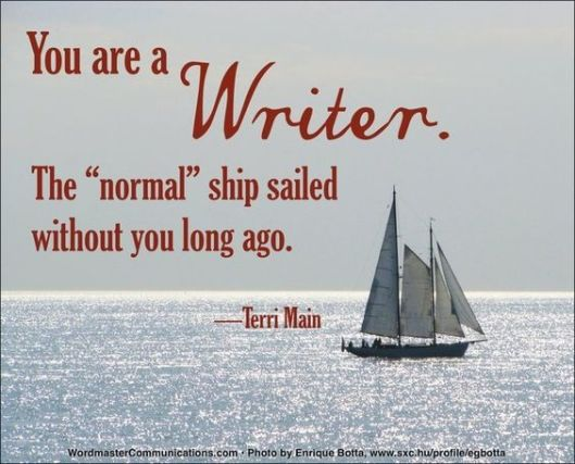 Quote on being a writer