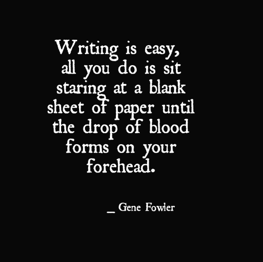 Quote on Writing by Gene Fowler