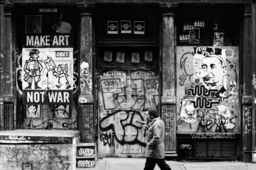 Make Art Not War, SoHo, New York City, USA, 2004