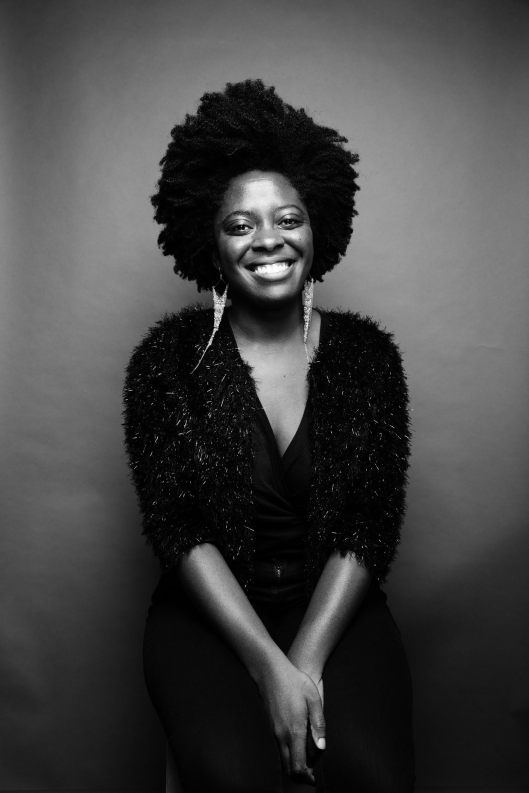 Black and white Picture of Yaa Gyasi
